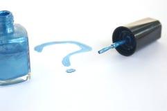 Nail polish mystery Stock Image