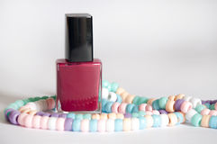 Nail polish with a necklace Stock Photography