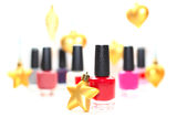 Nail polish - new year party makeup Royalty Free Stock Images