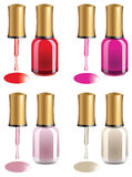 Nail polish packages Stock Images