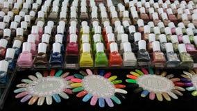 Nail polish parade Stock Photography