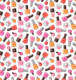 Nail polish pattern. Nail polish vector seamless pattern Royalty Free Stock Image