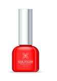 Nail Polish Professional Series Red Bottle. Women nail accessory. Bright stylish modern color. Glamour cosmetics. Manicure and pedicure product. Part of series Royalty Free Stock Photography