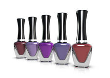 Nail Polish - purple range Royalty Free Stock Photos