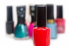 Nail polish red Stock Images