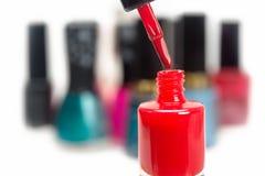 Nail polish red Stock Photography