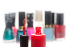 Nail polish red Stock Photos