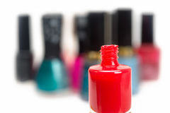 Nail polish red Royalty Free Stock Photos
