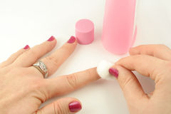 Nail polish remover Stock Photography