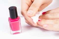 Nail polish remover. royalty free stock image