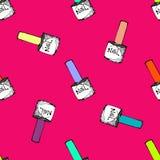 Nail polish seamless pattern Stock Image