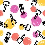 Nail Polish seamless pattern stock photos