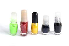 Nail polish serie Stock Photo