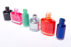 Nail polish set Stock Photography