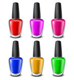 Nail polish set. In different color variations Royalty Free Stock Image