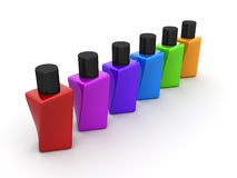 Nail polish set 3d object Royalty Free Stock Photo