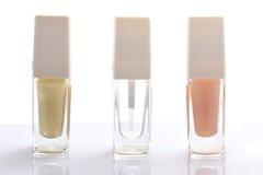 Nail polish set Royalty Free Stock Photos