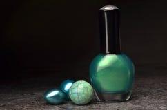 Nail polish set colors Stock Image