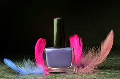 Nail polish set colors Stock Photo