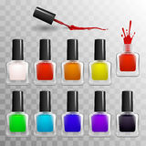 Nail polish set. In vector Stock Image