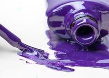 Nail polish sprayed on white background paper Stock Photography
