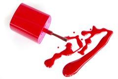 Nail polish squiggle. Royalty Free Stock Photography