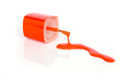 Nail polish squiggle. Royalty Free Stock Images