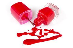 Nail polish squiggle. Stock Photo