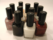 Nail polish variety Royalty Free Stock Photos