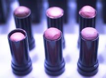 Nail polish varnish bottles makeup store Stock Photography