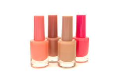 Nail polish vertically isolated over white Stock Images
