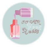 Nail polish vial Royalty Free Stock Photography