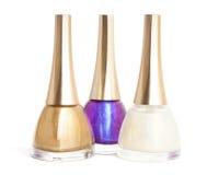 Nail polish on white Royalty Free Stock Photo