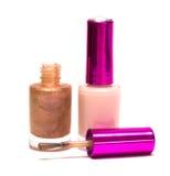 Nail polish on white Royalty Free Stock Photos