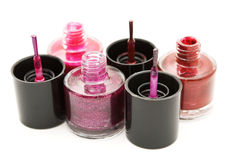 Nail polish on a white background Royalty Free Stock Images