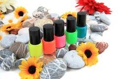 Nail polish  on the white Royalty Free Stock Photos