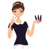 Nail Polish Woman Royalty Free Stock Photo