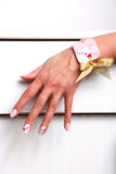 Nail polished hand Royalty Free Stock Photography