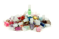 Nail polishes. The nail polishes of all colours Stock Photos