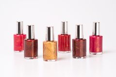 Nail polishes Royalty Free Stock Images