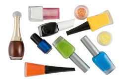 Nail polishes Stock Photography