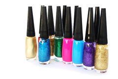 Nail polishes Royalty Free Stock Photos