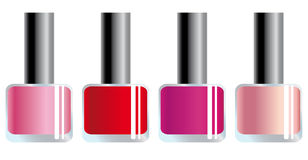 Nail polishes. Of different colours Stock Photo