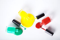 Nail polishes in nice flacon Stock Photo