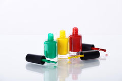 Nail polishes in nice flacon Royalty Free Stock Images