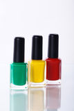 Nail polishes in nice flacon Stock Images