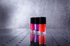 Nail polishes in nice flacon Royalty Free Stock Image
