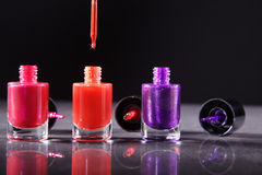 Nail polishes in nice flacon Stock Photography