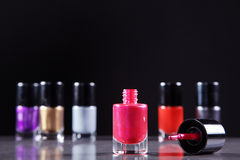 Nail polishes in nice flacon Stock Image