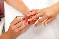 Nail polishing Royalty Free Stock Image